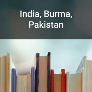India, Burma, Pakistan