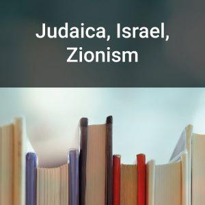 Judaica, Israel, Zionism